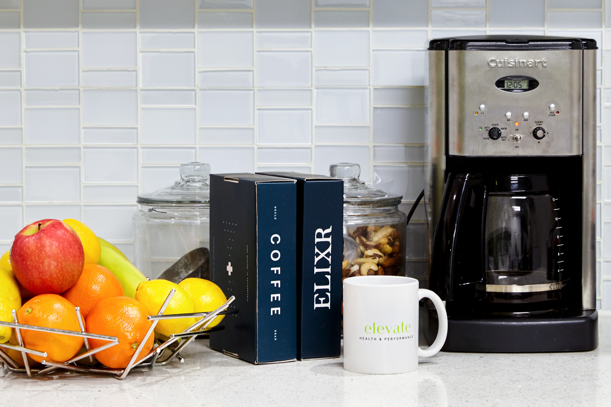 Coffee Maker and Fruit Basket